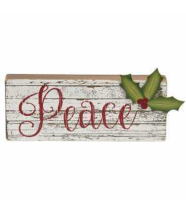 Peace Wooden Sign