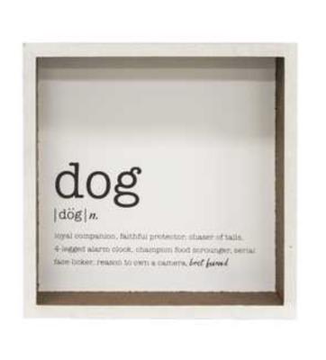 Dog Definition Shadow Box Sign