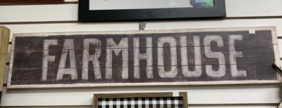 Farmhouse Horizontal Sign