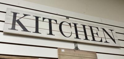 Kitchen Horizontal Sign