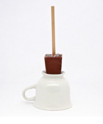 Hot Chocolate on a Stick - Salted Caramel