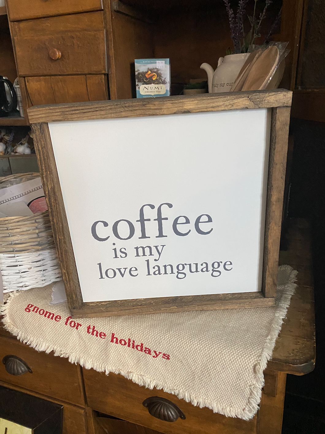 Coffee is my Love Language Sign