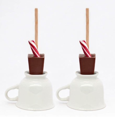 Hot Chocolate on a Stick - Milk Chocolate Peppermint