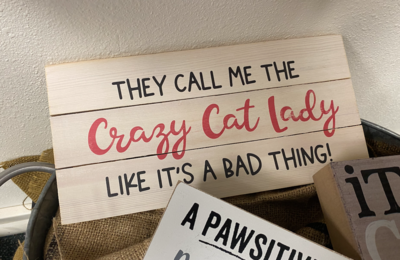 Crazy Cat Lady Sign