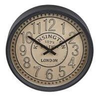 Round Beige Clock
