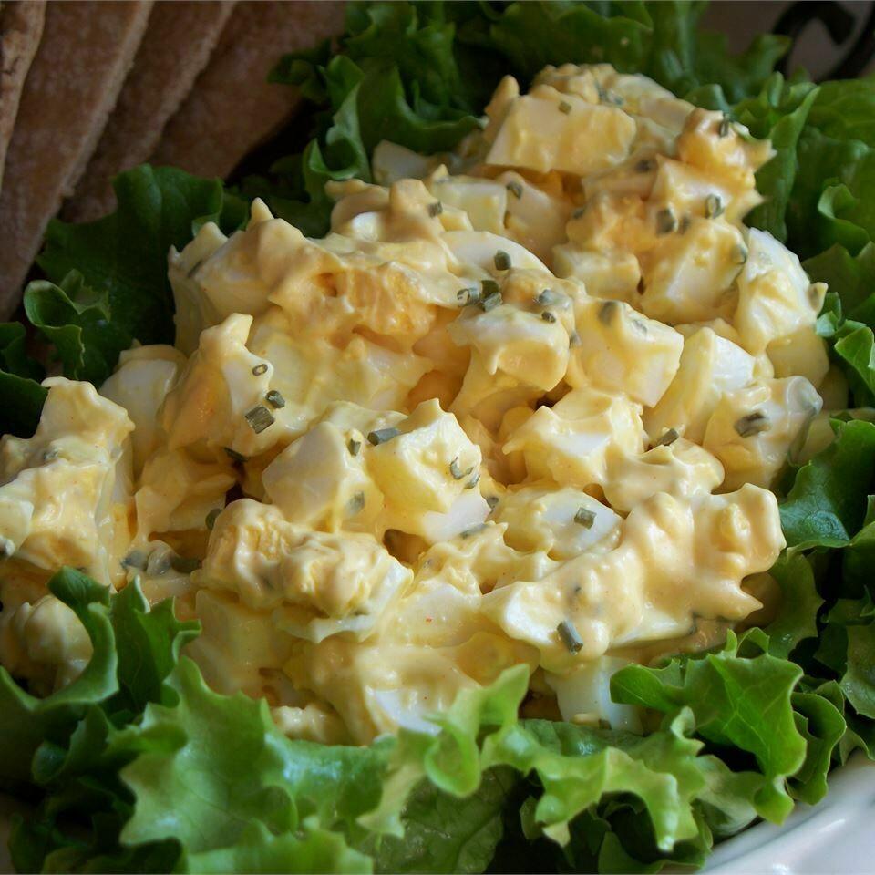 Homemade Egg Salad (Gluten-Free) served on Lettuce