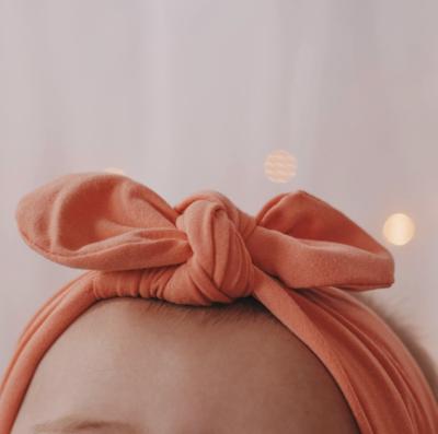 Peach Knot Bow Headband - Baby