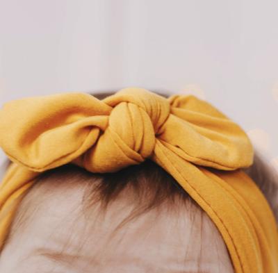 Mustard Knot Bow Headband - Baby