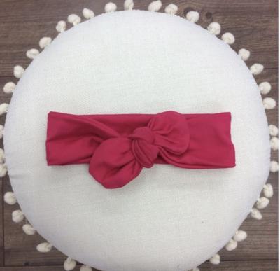 Dark Pink Knot Bow Headband - Baby