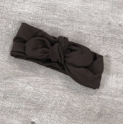 Brown Knot Bow Headband - Baby
