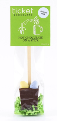 Hot Chocolate on a Stick singles with Easter Eggs Belgian Milk
