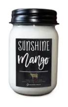 13 oz Sunshine Mango Farmhouse Mason Jar Candle