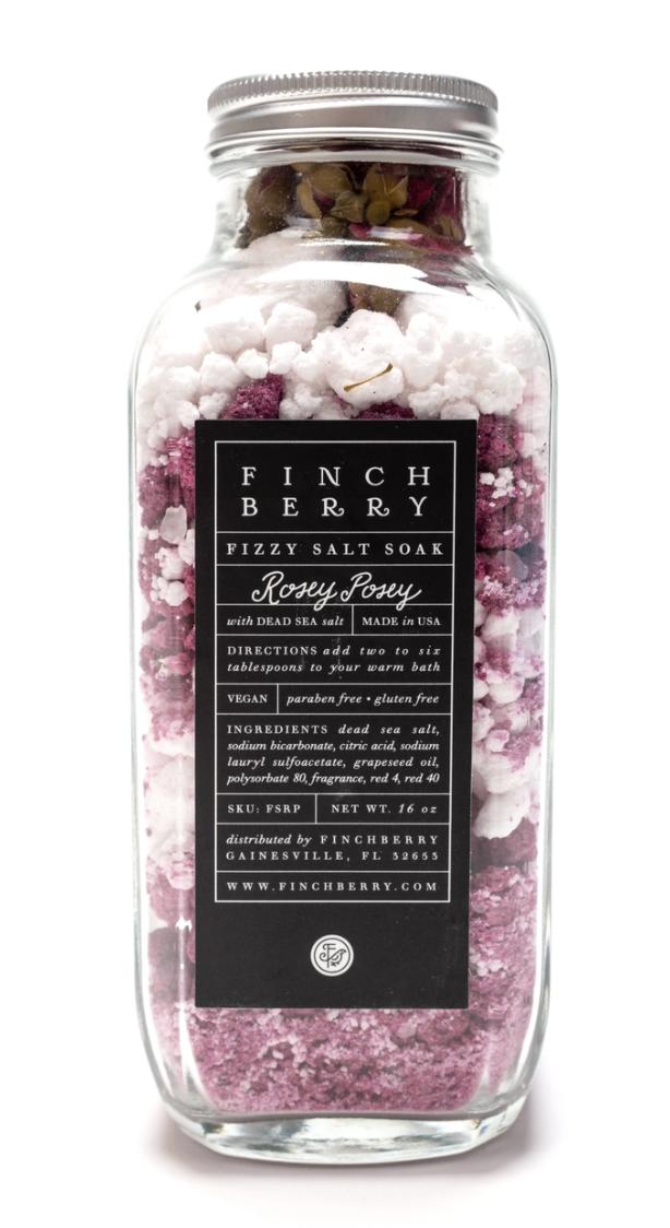 Fizzy Salt Soak - Rosey Posey