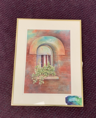 Window Sill Painting - Marian Sprecher