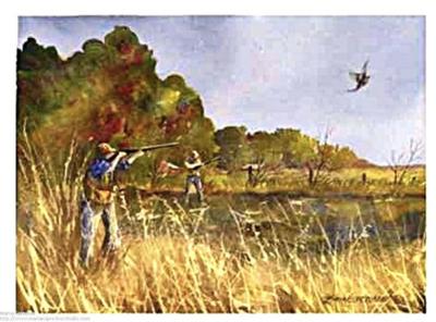 Pheasant Hunting Painting - Marian Sprecher