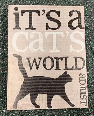Cat's World Sign