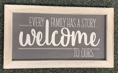 Every Family Has a History Sign