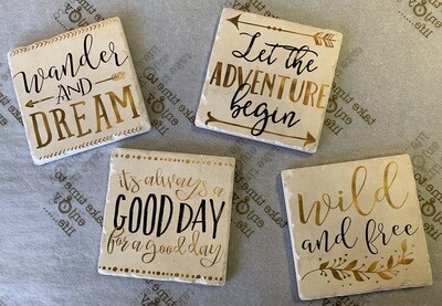 Assorted Coasters - Tan (4 pack)