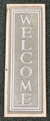 Welcome Vertical Sign