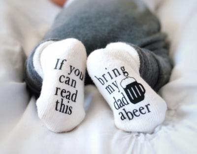 Bring my Dad a Beer - Baby Socks