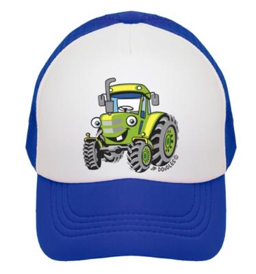 Blue Tractor Kids Trucker Hat