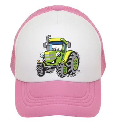 Pink Trackor Kids Trucker Hat