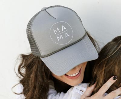Circle Mama Trucker Hat - Grey