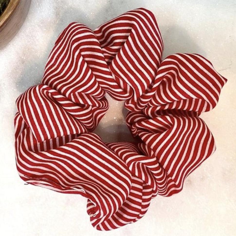 Hair Scrunchies - Stripes - Pink/Blush, Red, Navy