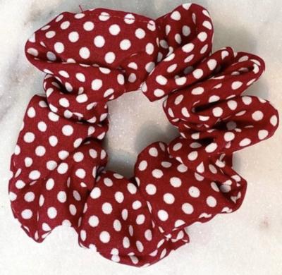 Hair Scrunchies - Polka Dot - Pink/Blush, Navy, Red
