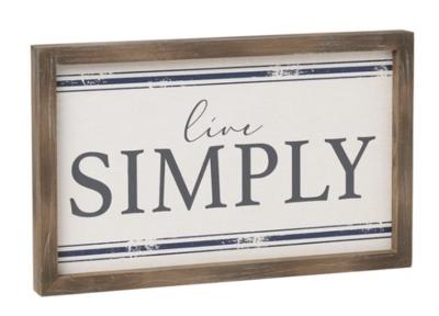 Simpy Framed Sign