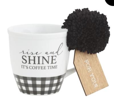 Rise and Shine BW Mug