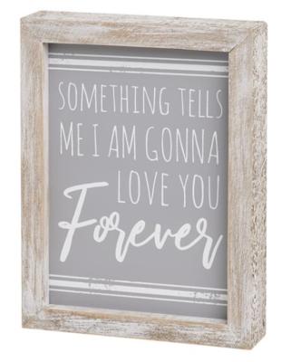 Tells Me Framed Sign