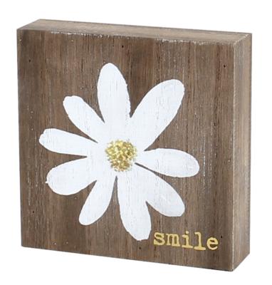 Smile Daisy Block Sign