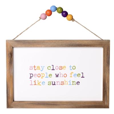 Like Sunshine Beaded Sign