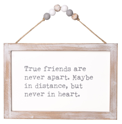 True Friends Beaded Sign
