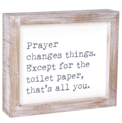 Toilet Paper framed Sign