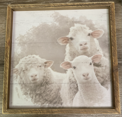 Wooden Sheep Sign