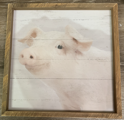 Wooden Pig Sign