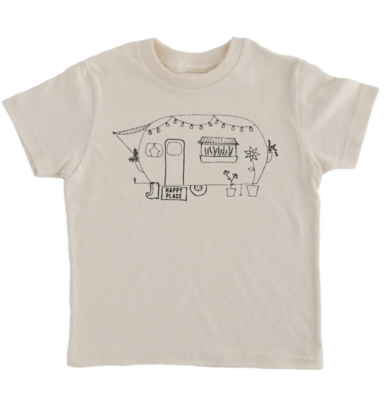 Happy Place Camper Kids T-Shirt