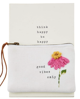Good Vibes Notebook and Pouch
