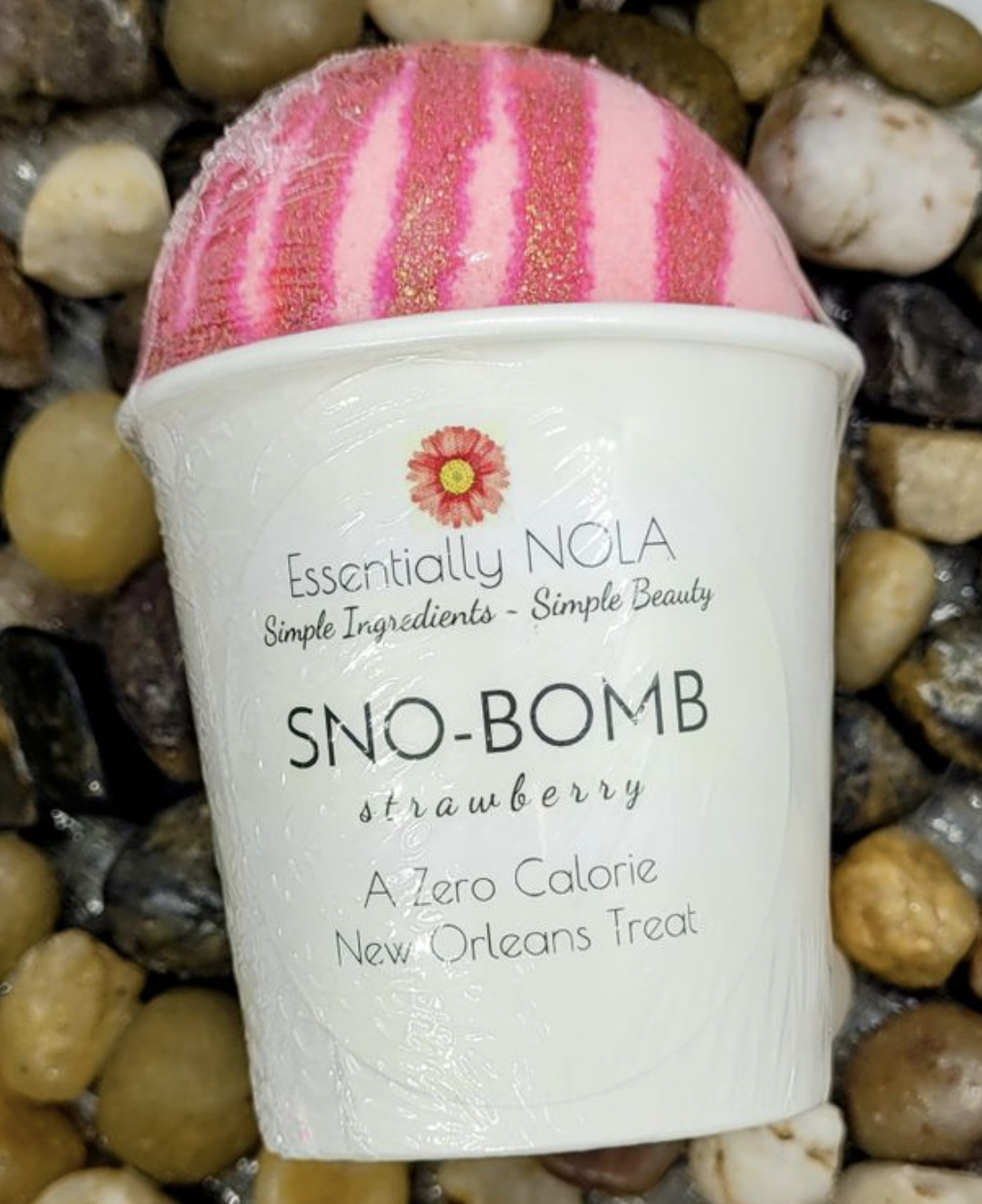 Bath Bomb - Strawberry Snow-Bombs