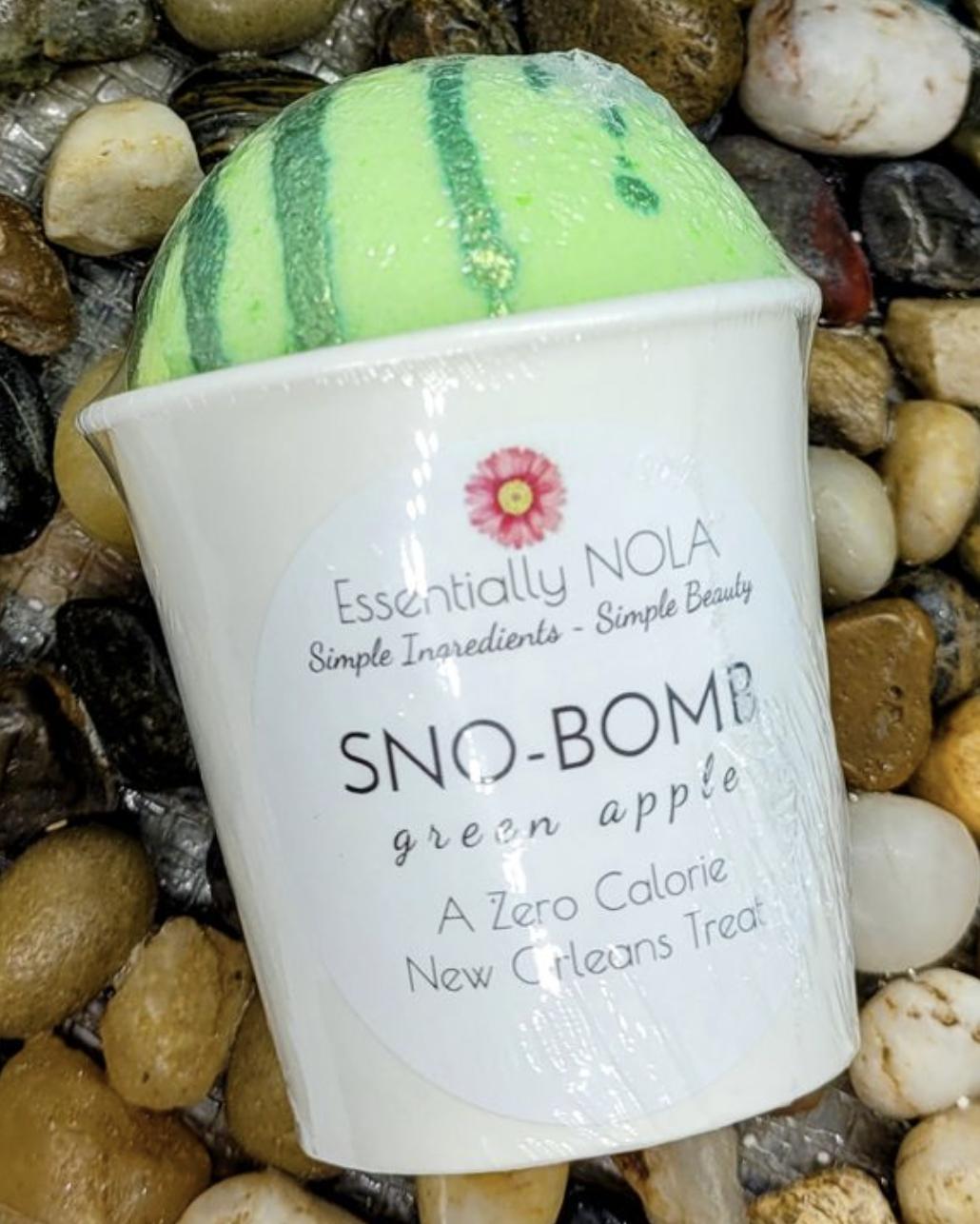 Bath Bomb - Green Apple Snow-Bombs