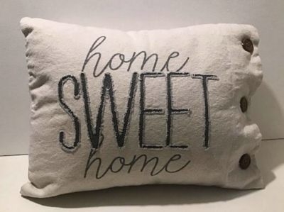 Home Sweet Canvas Pillow