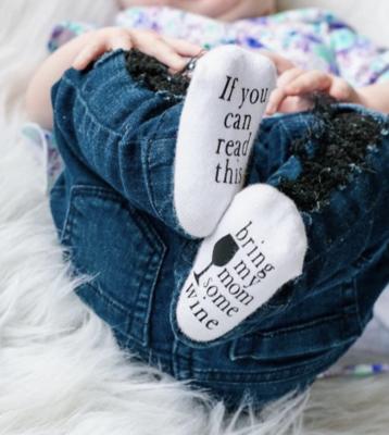 Bring my Mom Some Wine - Baby Socks