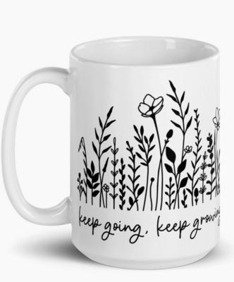 Keep Going, Keep Growing Mug