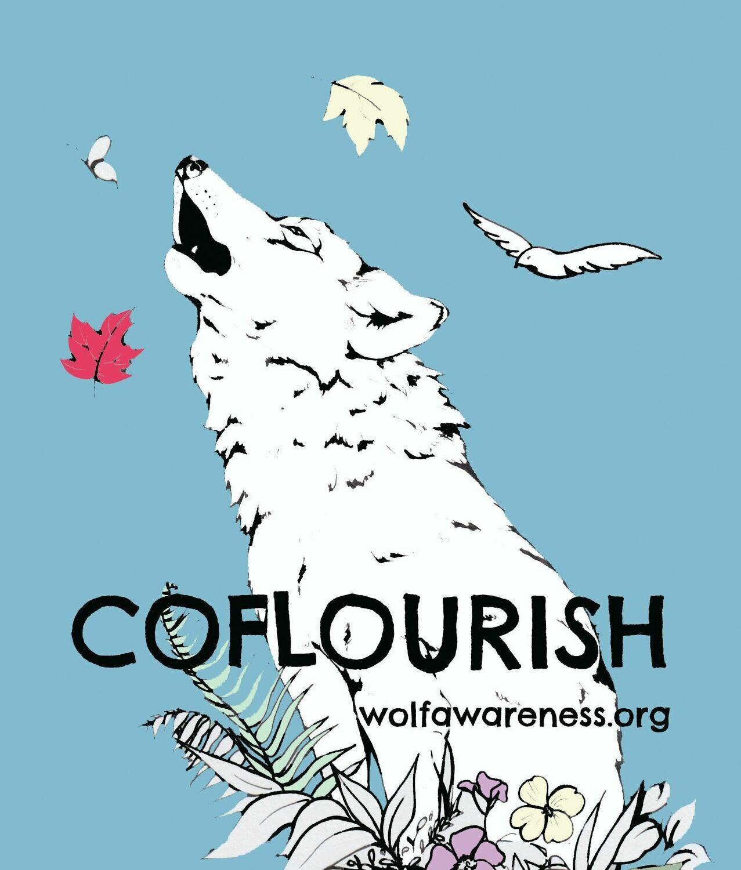 Wolf CoFlourish Sticker