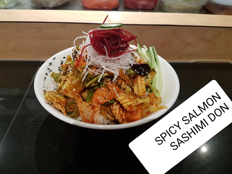 Spicy Salmon Sashimi Donburi