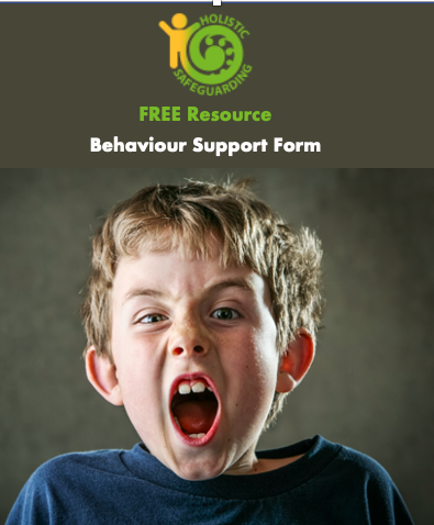 Behaviour Support Form - FREE