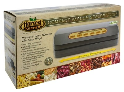 Harvest Keeper Compact Premium Vacuum Sealer with Vacuum Canisters and Bottle Stoppers