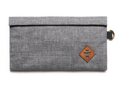 Revelry Supply Confidant Crosshatch Grey Money Bag